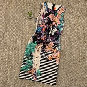 Clover Canyon Tropical Floral Angel Bodycon Dress